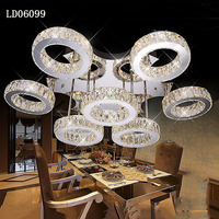 Zhongshan Lighting Factory Crystal Light Fixture Led Modern Ceiling Light