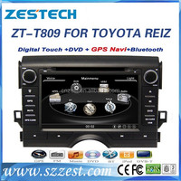 ZESTECH factory sale car radio cd player for Toyota Mark X/REIZ car gps player with radio AM/FM,TV Tuner,Music/video player
