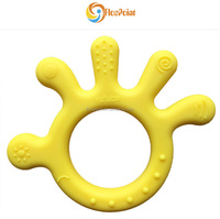hot baby products 2017 small fast selling items hand/octopus shape baby funny silicone teething toy