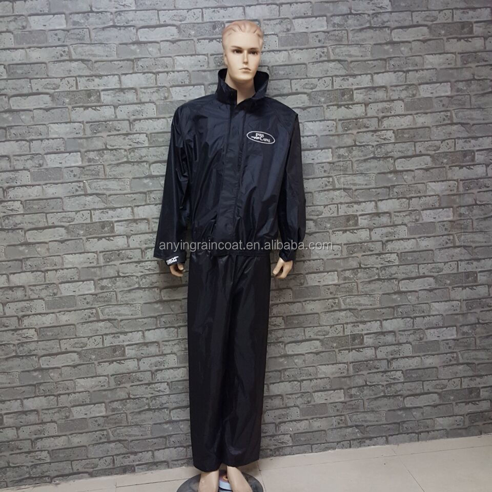 Motorbike Motorcycle raincoat polyester rain suit for adult