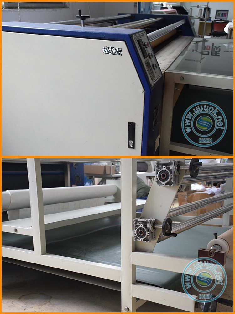 Sublimation rotary fabric table cloth lanyard label film roller heat transfer printing machine