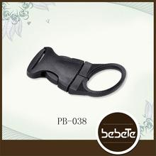 Professional Factory Sale luggage strap belt clip plastic side release buckles