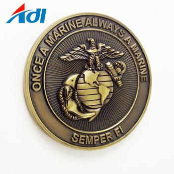 Promotional cheap custom simple metal challenge coins without color