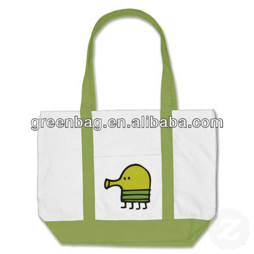Canvas Tote Bag With Outside Pockets
