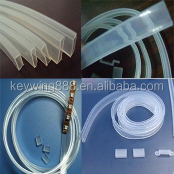 Custom dimension LED strip square silicone tube sleeve 5050,3528,12mm