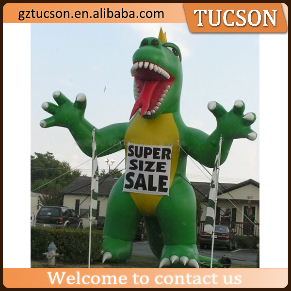 large PVC inflatable dinosaur/advertising inflatable cartoon for event