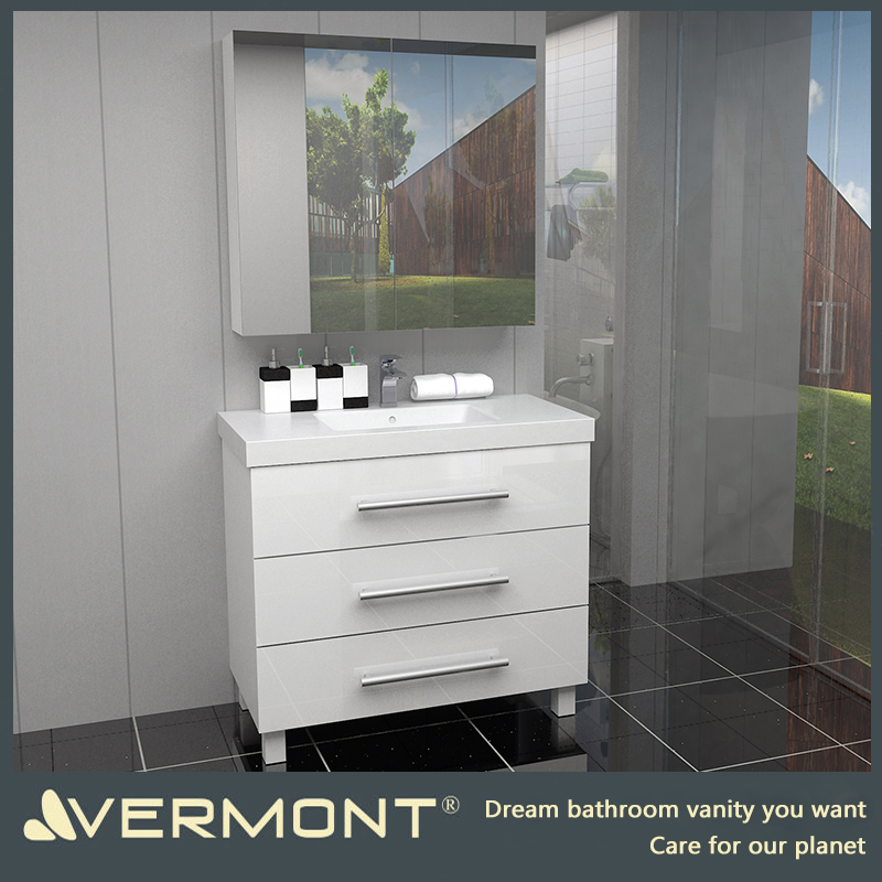 2017 Chinese popular bathroom vanity new design