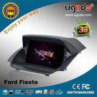 ugode Wholesale 7 inch Touch Screen Car Radio DVD Player for Ford Fiesta