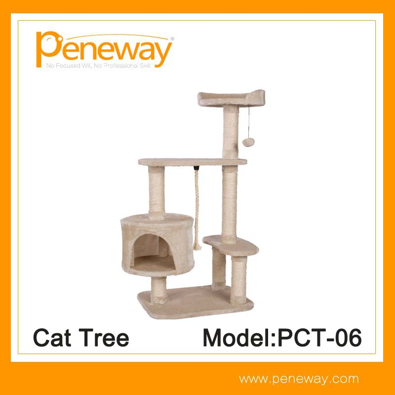 High quality cheap factory sisal luxury high mansion cat tree of China National Standard