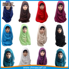 Wholesale long plain solid color scarf factory muslim fashion hijab