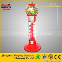 Factory price coin operated 1.33m spiral gumball machine toy capsule vending machine in sale