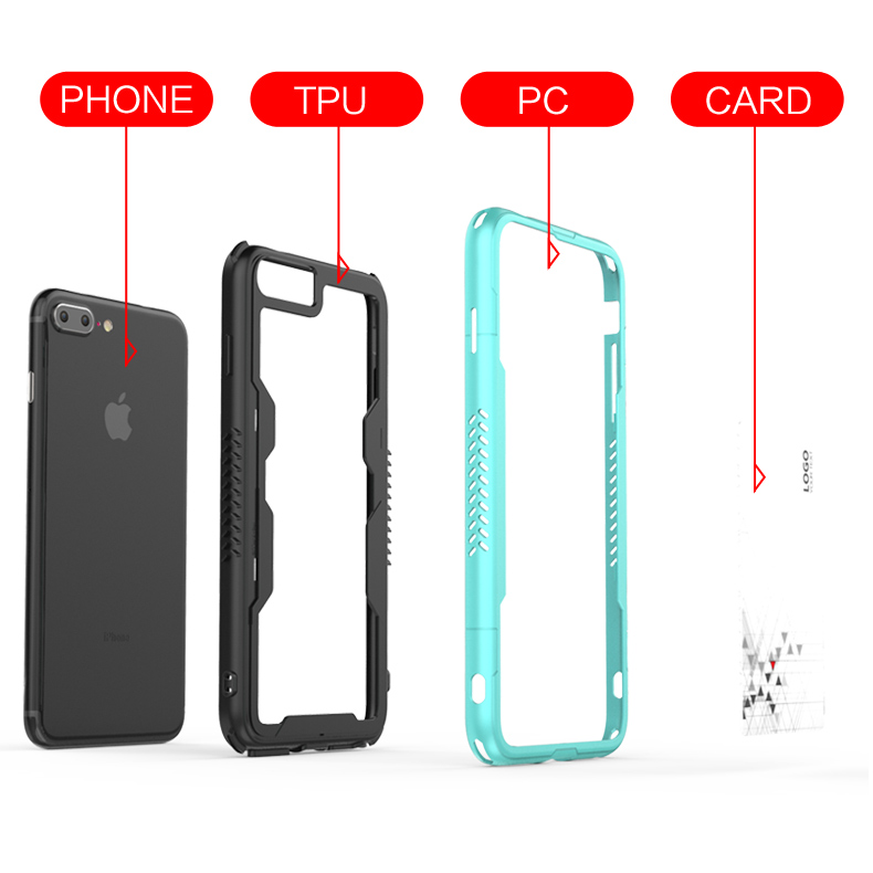 High Quality frame bumper cellphone case for iphone 8 plus,for iphone 8 plus bumper case