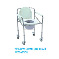 Outdoor W/Castor rehab shower commode chair