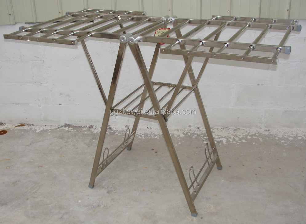 New! High Quality Butterfuly Stainless Steel Clothes drying rack airer hanger rack