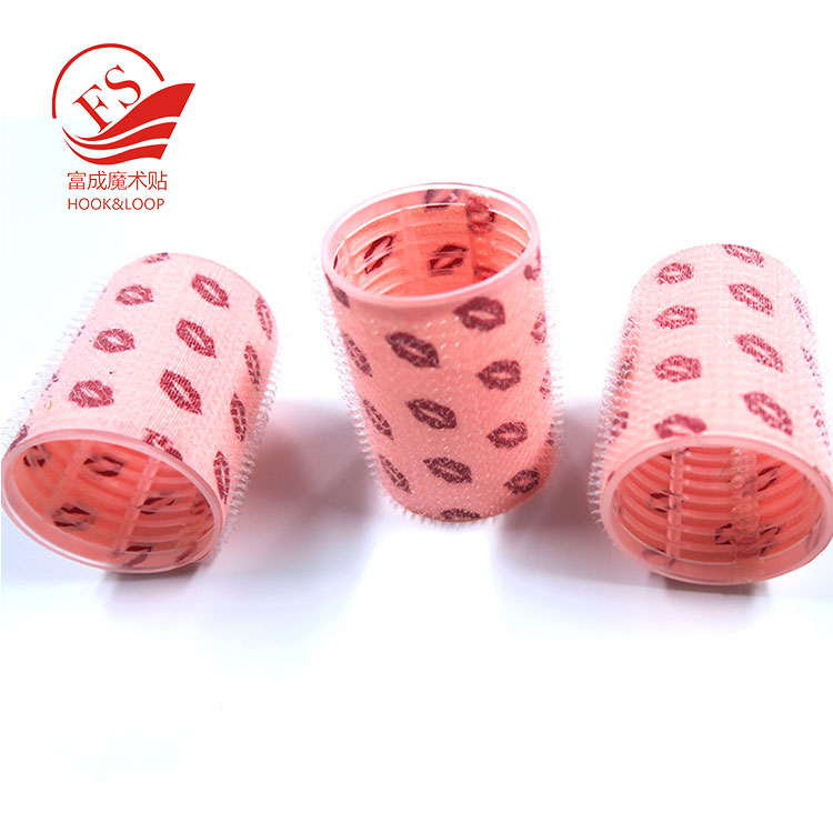 custom silk screen printing or hear transfer printing plastic manufacturer hair roller curler