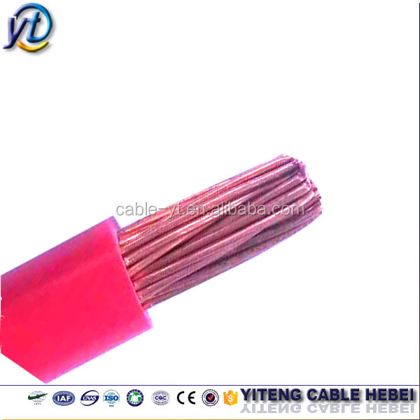 THHN /THWN / THW PVC sheathed AWG copper wire cable/ kabel elektrik