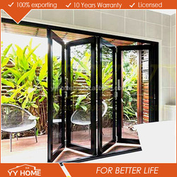 YY Home manufacturer cheap price comercial aluminum interior folding doors