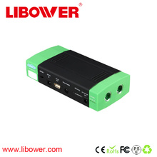 Libower New product portable car jump starter with tire air pump compressor emergency hammer knife led light dual usb