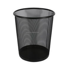 black Office home household wire metal mesh paper waste trash bin for trash container can