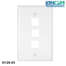 Lancom In time replied branded designer electric outlet face plate