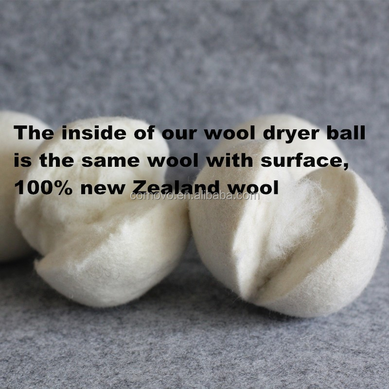 Amazon best seller Australia premium wool felted Organic dryer Wool Ball For Laundry
