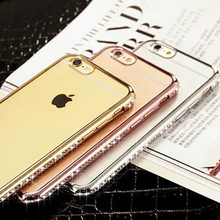 Soft Slim TPU Case for iPhone Diamond Cover