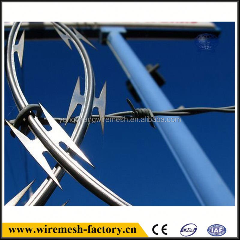 anti theft barbed wire mesh making