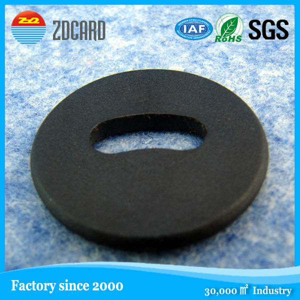 RFID ABS Tag Laundry Sticker with Hole For Fruit and Vegetable Management