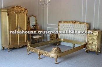 Indonesia Furniture Yorkshire Gilded Bedroom Furniture