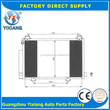 China Supply 88460-28740 88460-52010 Auto Car Condenser For Toyota Yaris
