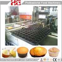 Hot air oven baking production line for custard cake machines