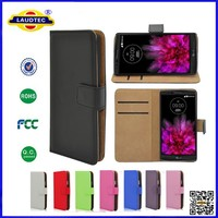 Premium PU Leather Flip Cover Case Wallet Case with Stand and Card Slots for LG G Flex 2 ---- Laudtec