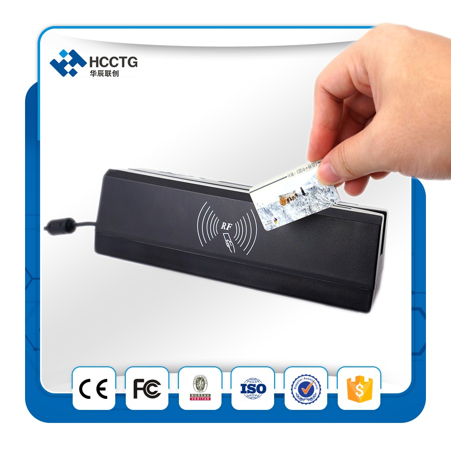 High security track 1/2/3 magnetic card reader/writer HCC80 made in china for bank