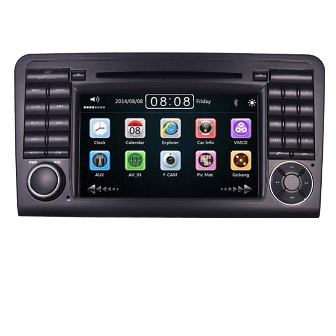 7&quot;HD autoradio <strong>dvd</strong> <strong>gps</strong> for Mercedes Benz Ml ML350 ML500 GL CLASS <strong>W164</strong> GL320 with 3G Bluetooth Steering wheel Control Free Map
