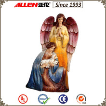 "10.4"" resin angel with shepherd Christmas nativity statue,nativity figures for sale"