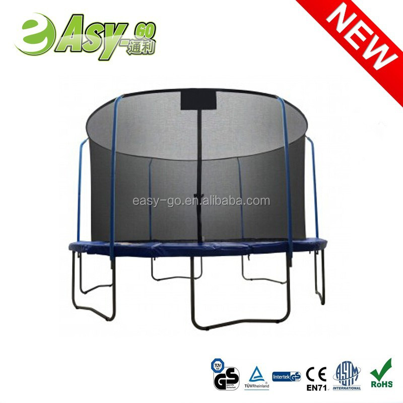 2016 Easy-go 6ft/8ft/10ft/12ft/13ft/14ft/15ft/16ft trampoline without safety net with CE certificate