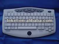 China supply slim Infrared Keyboard With integrated Trackball mouse KCPQ,with usb,ps/2 port