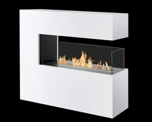 on sale modern fire place indoor 3 sided electric fireplace