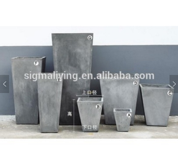 Wholesale nice planters outdoor garden trapezoidal flower pot magnesium mud pot