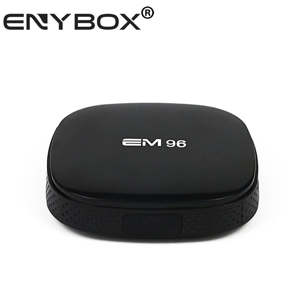 Android tv box digital satellite receiver EM96 ENY nexw box android 5.1 Rockchip 3229 4k remote control IPTV