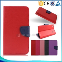 Hot sale Mixed colors pu leather flip cover case for sony xperia E