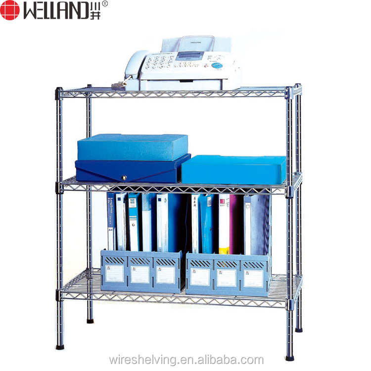 Multi-purpose 3 Tiers Chrome Storage Wire Shelving For Office, Home