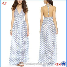 2016 Fashion Latest Maxi Boutique 100% Cotton Dress Sexy Girls Without Any Dress Semi-Sheer Dress