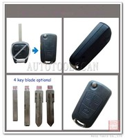 for Opel Flip Key case 3 buttons with 4 types blade optional AS028001