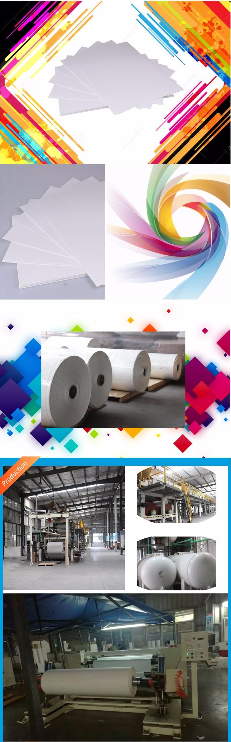 fast dry and and anti-curl 50g 55g 60g 70g 90g - 120g and 100g sticky sublimation paper