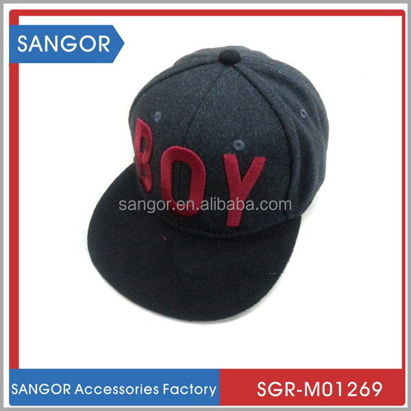 Hot sale designer melton wool cap and hat snapback