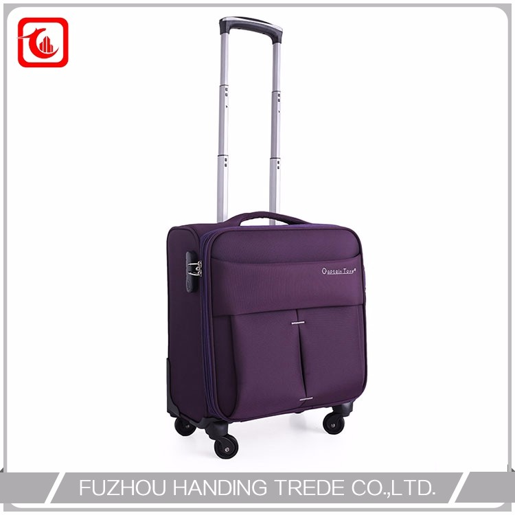Quality Purple Durable Computer Promotion Nylon Trolley Bag