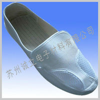 PVC ESD two eyes shoes for cleanroom