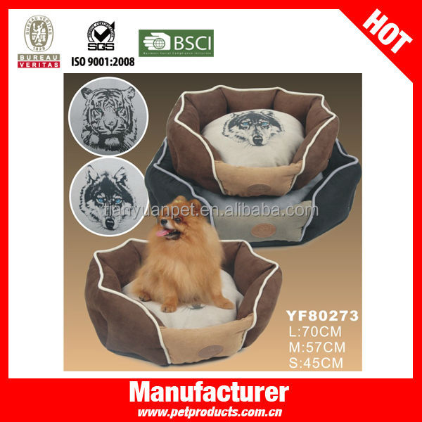 Leather folding cheap dog bed