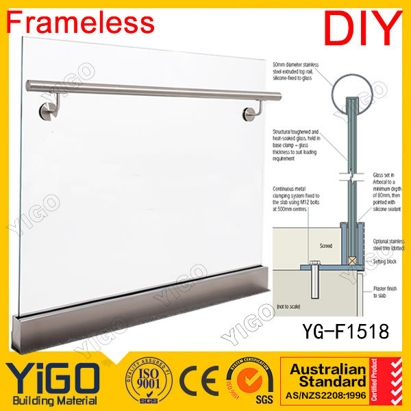 stainless steel glass channel /aluminum u channel/ steel u channel